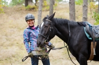 One of our most beautiful equestrian horseback riding trips in golden autumn