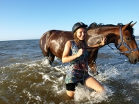 "Horses love swimming in the sea; so do we :) Explore this <a href=""http://www.adventureride.eu/en/select-dates/empty_beaches_of_slitere_national_park/"">horseback riding vacation</a> in Slitere national park"