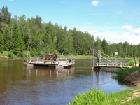 "An ancient way how to cross bigger rivers. This is a historical wooden ferry operated by manpower on <a href=""http://www.adventureride.eu/en/select-dates/through_the_rivers_of_gauja_national_park/"">horseback riding vacation</a> in Gauja national park"