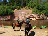 """Like this beautiful trail? Book this <a href=""""http://www.adventureride.eu/en/select-dates/through_the_rivers_of_gauja_national_park/"""">horseback riding vacation</a> in Gauja national park"""