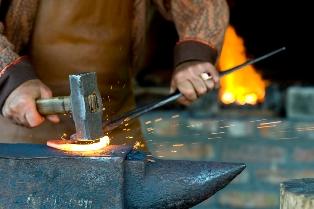 Outdoor guide in blacksmith