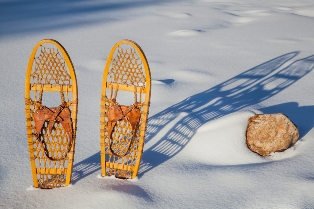 Outdoor guide snow shoes walking tour
